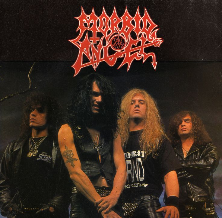 Could it be?!? A picture of Morbid Angel we haven't pinned before?! AND DAVE VINCENT HAS A SPIKEY CODPIECE ON IN IT?!?!