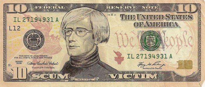 Dollar Scheine, die die amerikanische Pop-Kultur verewigen - http://freshideen.com/art-deko/dollar-scheine.html