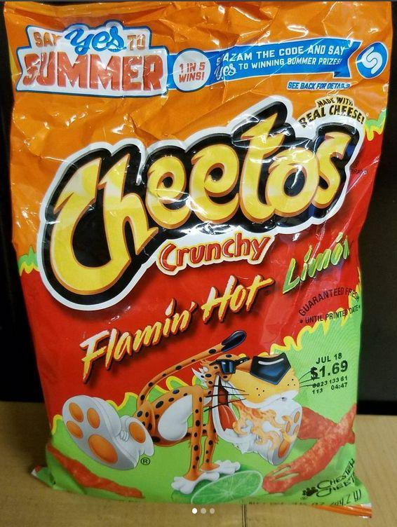Cheetos Crunchy Flamin' Hot Limon