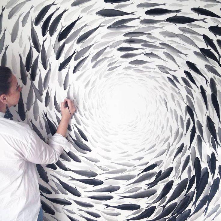 Fish and Clouds – Les superbes peintures sur porcelaine de Niharika Hukku