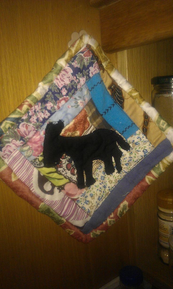 Donkey mug rug/coaster/pot holder, made for charity (Agia Marina Donkey Rescue)