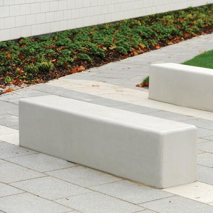 Timperley Concrete Seat | Street Furniture | Broxap