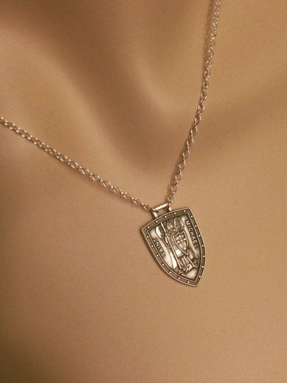 Womens Sterling St Michael Medal 925 Solid by PowersThatBead