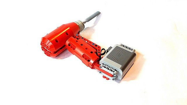 """LEGO Technic cordless power drill spins its way into our hearts""   Talented @lego builder František Hajdekr integrates a Power Functions battery pack into a fully functional Technic power drill. #lego #MOC #AFOL #technic #legotechnic #powerfunctions #legos #legostagram #legophotography #legogram #legomoc #legodesign #legoart #legocreation #toys #toyphotography #legophotography  #bricklink #brickstagram #productphotography #build #buildlego #legobrick #legobricks"
