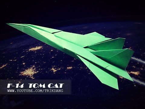 BEST PAPER AIRPLANES [86] - How to make an COOL paper plane that FLIES | F -14 Tomcat - YouTube