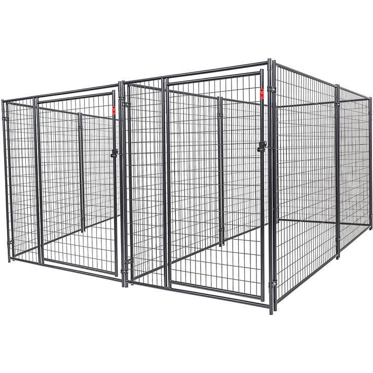 "Heavy Duty Dog Kennel 2-Run With Common Wall and 2"" x 4"" Welded Mesh Give your pets a safe and sturdy outdoor space of their own with the Lucky Dog Heavy Duty Dog Read  more http://dogpoundspot.com/dog-luxury-store-1098/  Visit http://dogpoundspot.com for more dog review products"