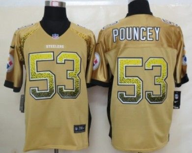 77f4fe83af5 ... Nike Pittsburgh Steelers 53 Maurkice Pouncey 2013 Drift Fashion Yellow Elite  Jersey ...