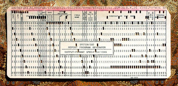 IBM card. Also called Hollerith card from Herman Hollerith of the U.S. Census Bureau.