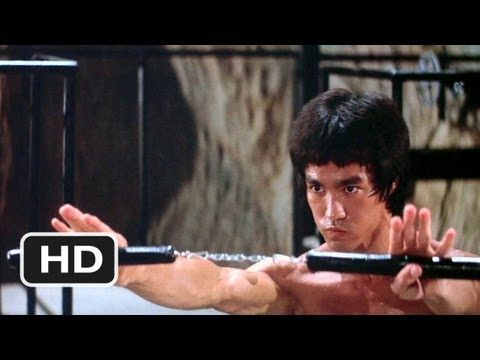 Bruce Lee clip from Enter the Dragon (the nunchuck scene at the end of this clip used to make the young hair on my neck stand-up,... when i was younger,... now, i just smile knowing I can do that)