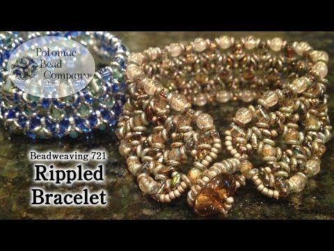 ▶ Beadweaving 721 - Rippled Bracelet - YouTube