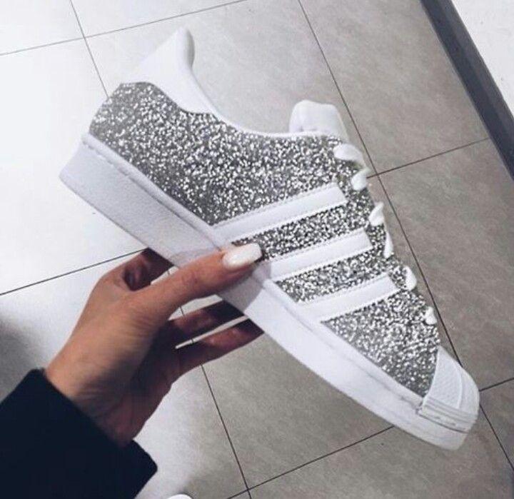 Adidas Superstar Schwarz Pink Glitzer ohne
