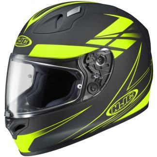 HJC FG-17 Full-Face Helmet Force Graphic - Black / Hi-Viz - TwistedThrottle.ca