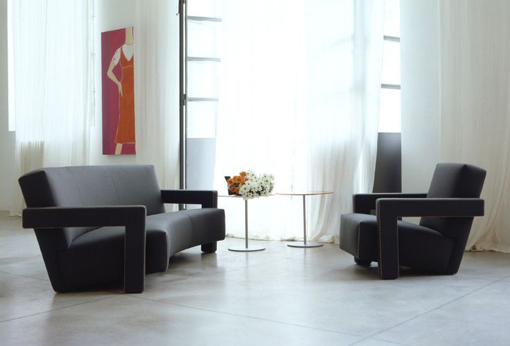 Fauteuil contemporain / en cuir / tissu / par Gerrit Thomas Rietveld - 637 UTRECHT - Cassina