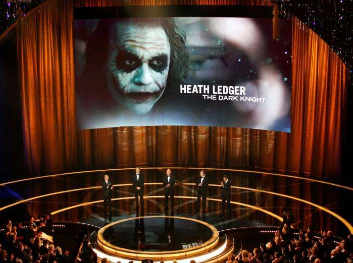 "FEBRUARY 22, 2009,  Heath Ledger posthumously won an Academy Award for Best Supporting Actor for his performance as the Joker in ""The Dark Knight."""