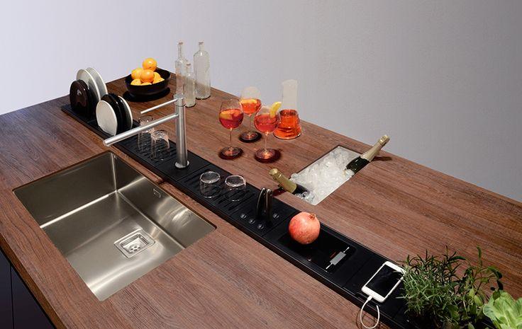Accessorio per canale attrezzato EASYRACK KITCHEN FLAT Portaspezie - kuchen utensilien artematica inox valcucine