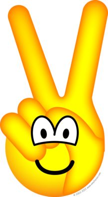 Peace sign emoticon