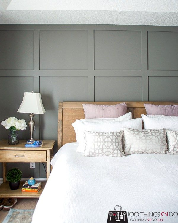 One Day Board And Batten 100 Things 2 Do Bedroom Wall Decor Above Bed Feature Wall Bedroom Bedroom Wall