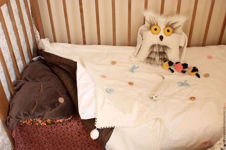 """Купить Комплект детского постельного белья """"Зимний лес"""" - разноцветный, детское постельное белье"""