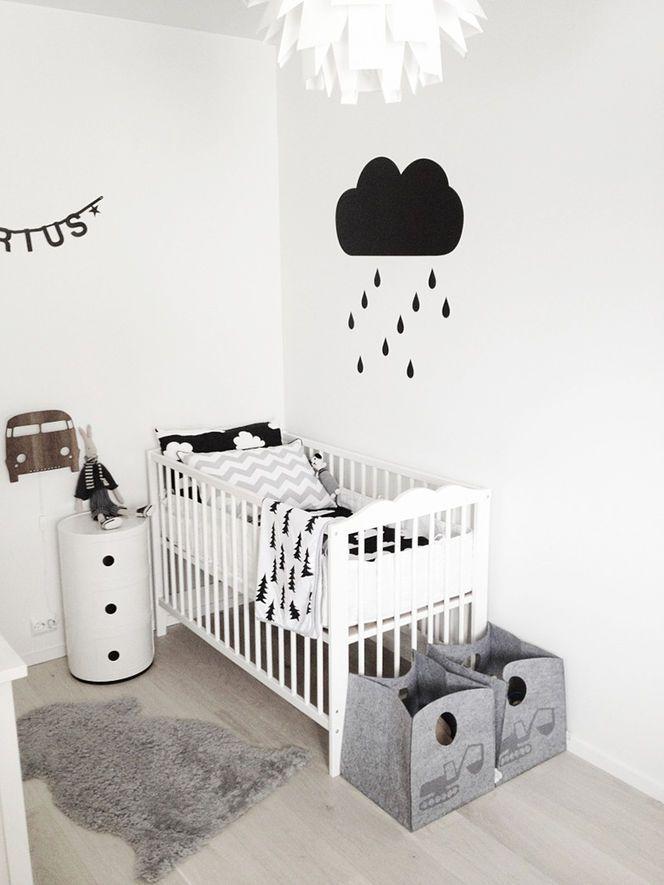 Preto e branco no quarto de criança