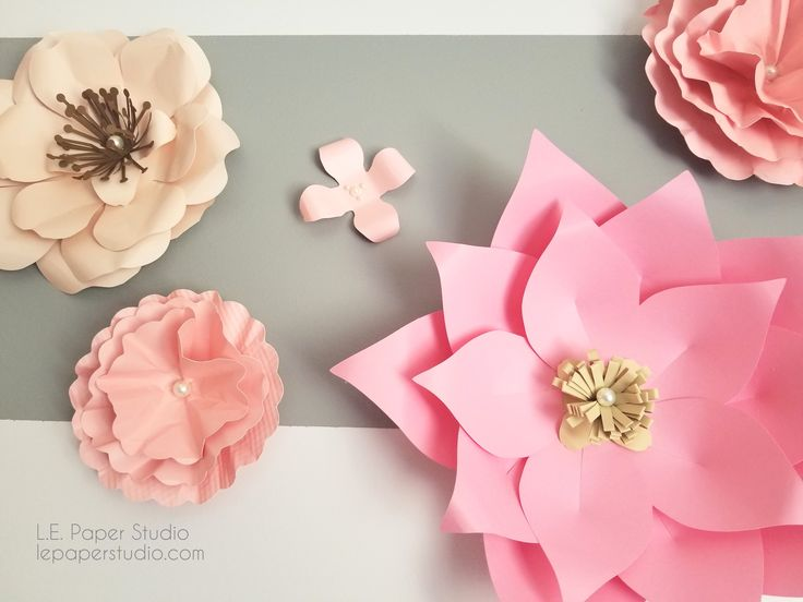 Diy 3d Giant Paper Flower For Nursery Free Svg Template