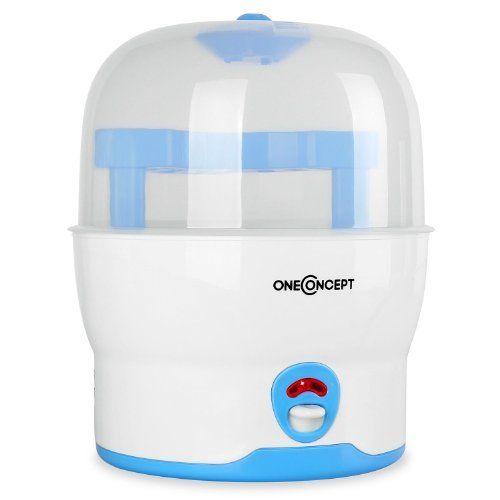 NUK 10251010 - Vaporisator / Auskocher für bis zu 5 Flaschen, Sauger und Zubehör, Farbe blau/weiss