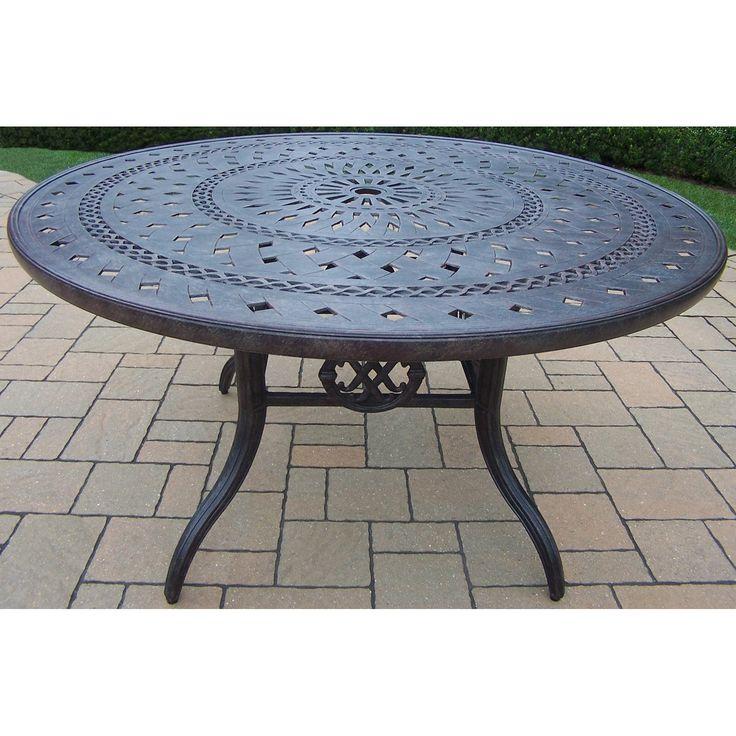 Outdoor Oakland Living Victoria Aluminum Round Patio Dining Table - 7805-T54-MC