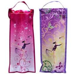 Pastorelli Rhythmic Girls Club Holder:  Pastorelli presents another club holder you can rely on!  Each club holder is constructed from tear-resistant fabric and features beautiful illustrations depicting rhythmic gymnastic routines. There is plenty of room for a standard sized pair of rhythmic gymnastics clubs! On sale for $40.