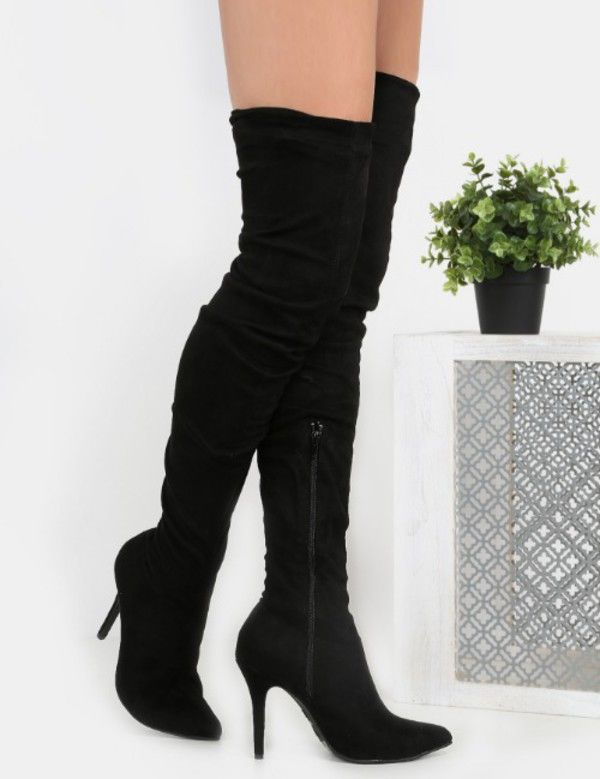 Find Out Where To Get The Shoes Boots Thigh High Stiletto Boots Pointy Toe Boots