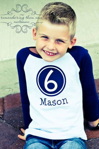 Birthday Shirt, FUNKY NUMBER RAGLAN - Toddler & Youth Sizes, Personalized, Different colors to choose from. $19.99, via Etsy.Photos Ideas, Happy Birthday, Birthday Shirts, Birthday Boys