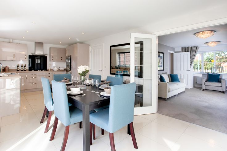 The dining area in The Canterbury at Wickhurst Green in Broadbridge Heath | Bovis Homes