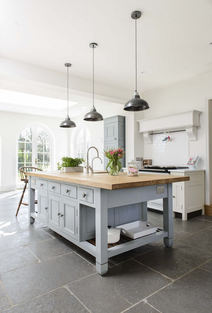 These Colors But Put Butcher Block By Cooker Dark Gray Tile Floor Takes Place Of Soapstone