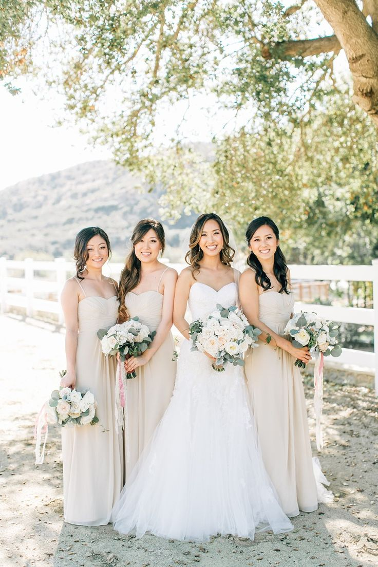 426 best rustic wedding ideas images on pinterest davids bridal a neutral color palette for a rustic wedding setting shop these spaghetti strap sweetheart neckline bridesmaid gowns from davids bridal jenna bechtholt ombrellifo Images