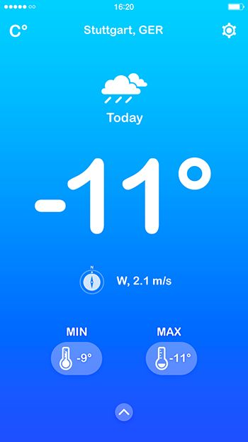 Cold weather gradient