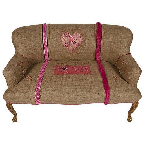 burlap furniture. burlap on furniture