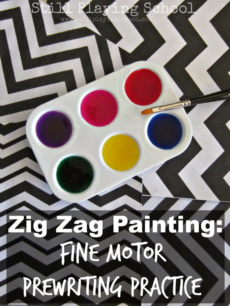 Zig Zag Painting as Fine Motor Pre-Writing Practice for Kids   Still Playing School