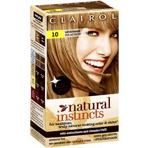Clairol Natural Instincts Non-Permanent Hair Color, 10 Sandalwood Dark Ash Blonde