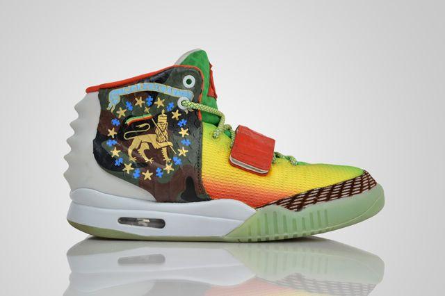 REVIVE CUSTOMS NIKE AIR YEEZY 2 (MARLEEZYS)   Sneaker Freaker