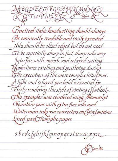 Italic Handwriting Basics Techniques Methodologies: calligraphy basics