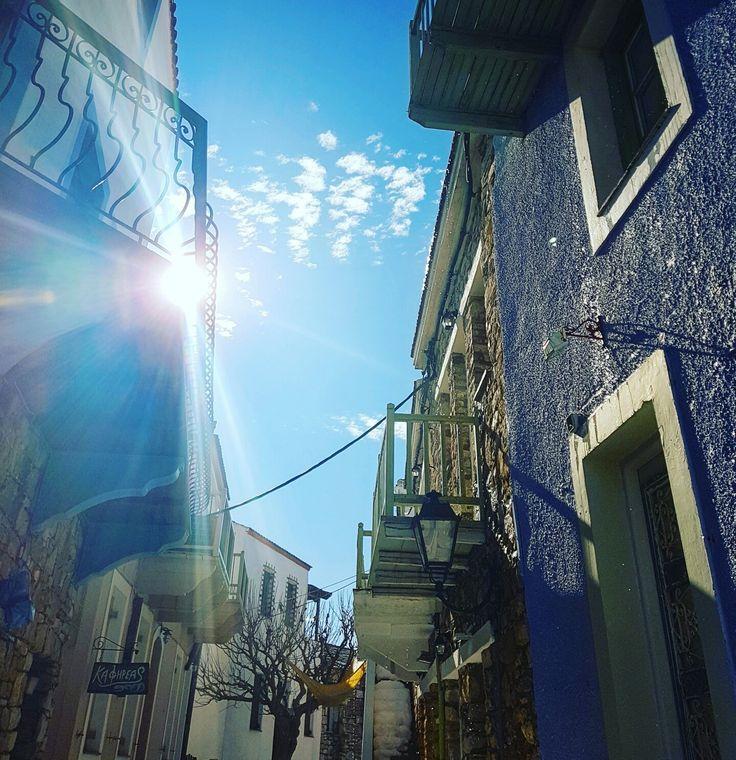 Old Village of Alonissos... www.angelosalonissos.com  #alonissos #sporades #greece #greekislands #oldvillage #sunnyday