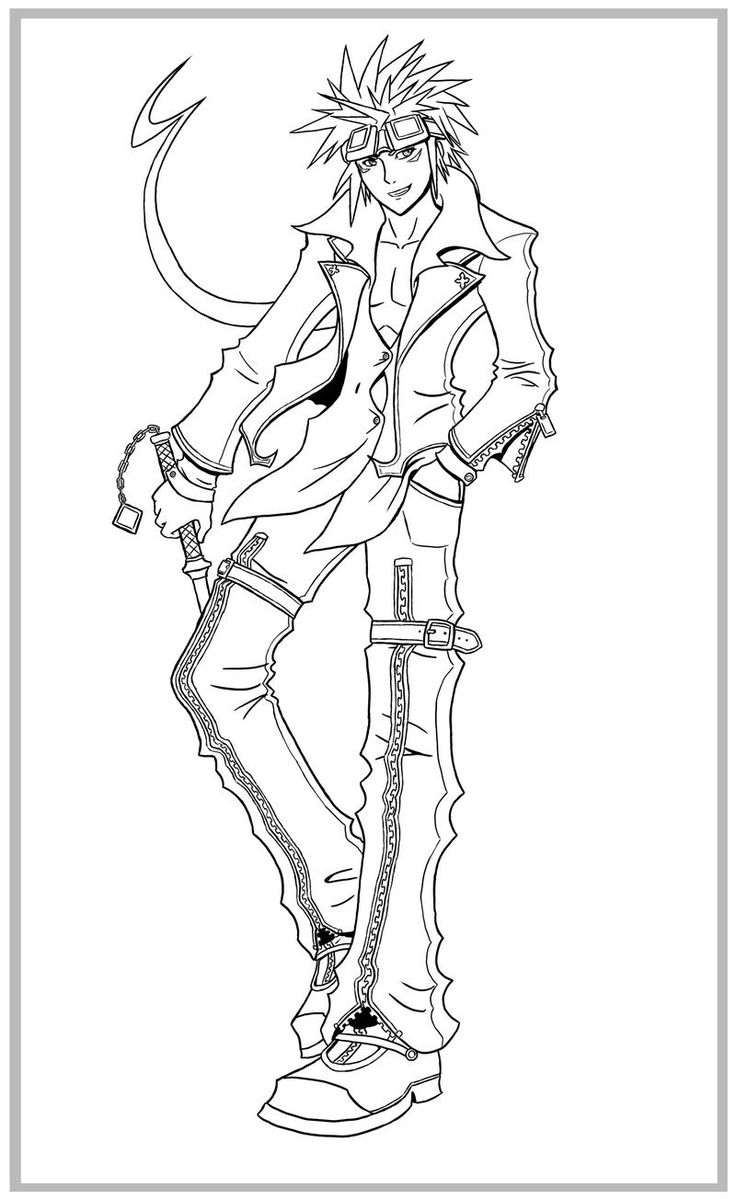 Inuyasha coloring book - If Reno Were In Kh