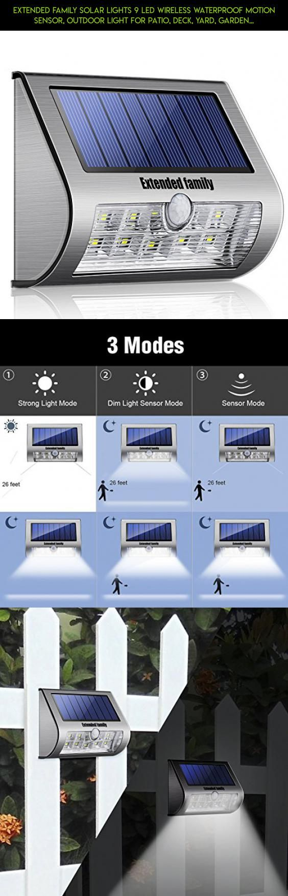 Solar power round recessed deck dock pathway garden led light ebay - Extended Family Solar Lights 9 Led Wireless Waterproof Motion Sensor Outdoor Light For Patio Deck Yard Garden With Motion Activated Auto On Off