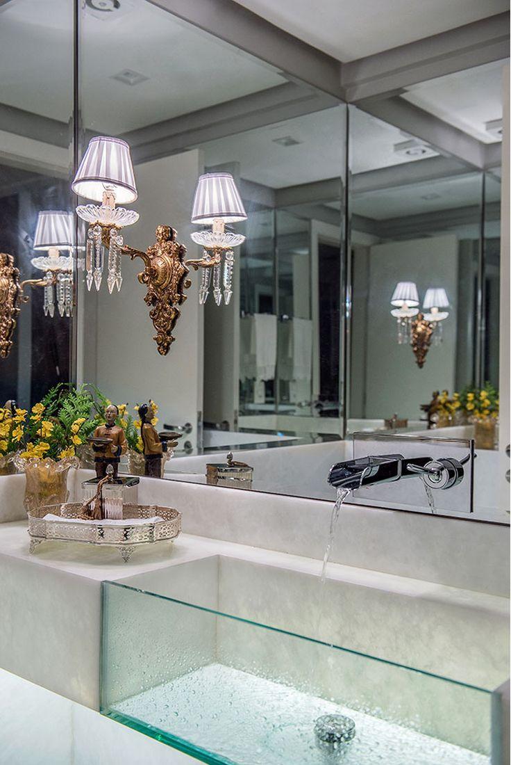 Cubas de vidro e acrílico em lavabos - veja modelos lindos! - Decor Salteado - Blog de Decoração e Arquitetura