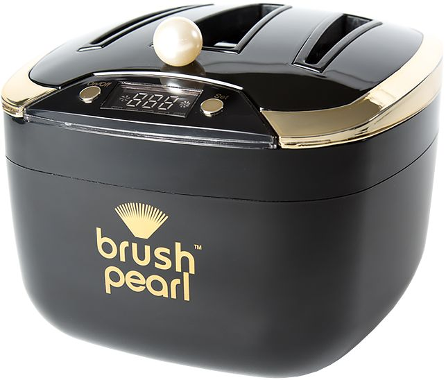 My wife is always telling me that she needs new makeup brushes.  Is that because makeup dries and hardens the brushes?  This machine can clean makeup off of brushes and make them clean again.  I think something like this would be worth the investment.  Who knows, it might even be fun to use!