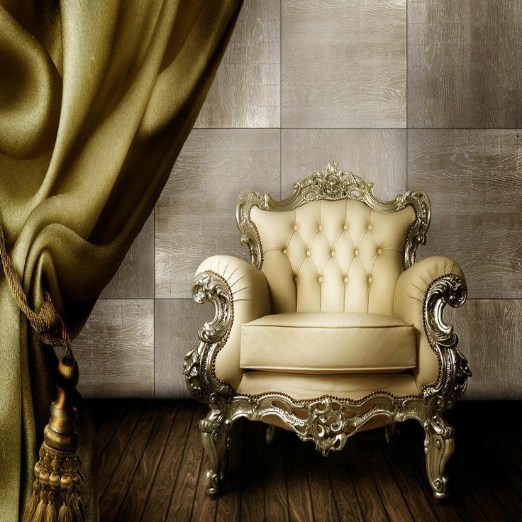 Art. Rovere Argento, rivestimento in Rovere bigliato, decorato con foglie d'argento. #madeinitaly #design #quadrolegno #wood #luxury #wall #silver