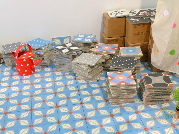 113 best images about carreaux de ciment tiles on - Carreaux de ciment petit pan ...