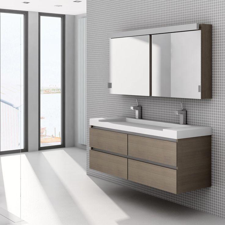 Dit wastafelblad geeft het meubel een vooruitstrevende look. De zachte uitstraling en het warme aanvoelen van dit materiaal maakt van dit Assenti meubel een aanrader.