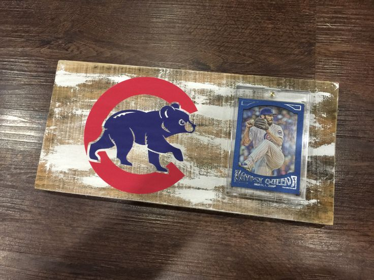 A personal favorite from my Etsy shop https://www.etsy.com/listing/462011430/chicago-cubs-vintage-style-baseball-card
