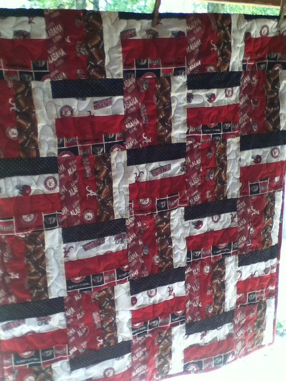 Roll Tide Alabama Football Baby Quilt on Etsy, $50.00