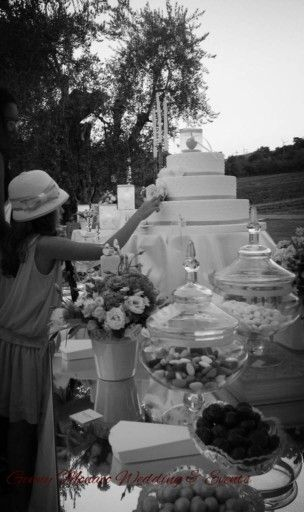 Sweet table..wedding details..country chic wedding..www.gennymonaco.it