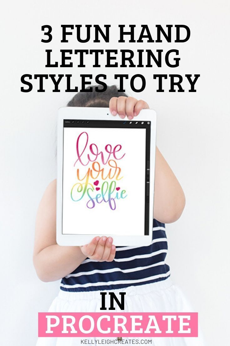 3 fun hand lettering styles in procreate hand lettering